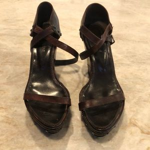 Yves Saint Laurent All Leather Wedge